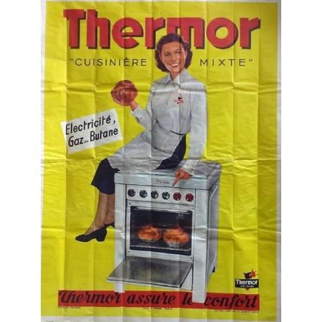 affiche ancienne publicit thermor cuisin re mixte. Black Bedroom Furniture Sets. Home Design Ideas