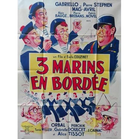 Trois marins en bordée.120x160